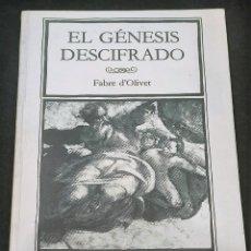 Libros de segunda mano: EL GÉNESIS DESCIFRADO. Lote 268043489