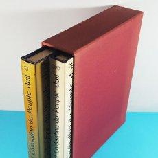 Libros de segunda mano: ART ET CIVILISATION DU PEUPLE JUIF, ARTE Y CIVILIZACION DEL PUEBLO JUDIO, 2 TOMOS CON ESTUCHE 1973. Lote 268126284