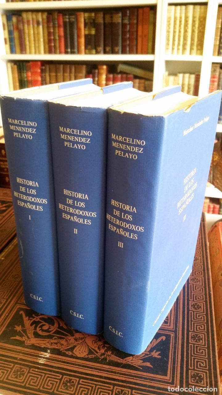 Libros de segunda mano: 1992 - MARCELINO MENÉNDEZ PELAYO - Historia de los heterodoxos españoles. 3 tomos (completa) - Foto 2 - 268135799