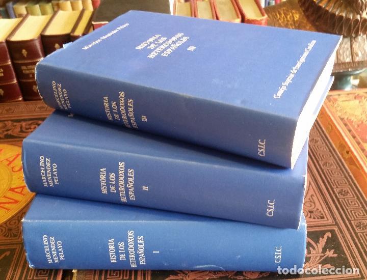 1992 - MARCELINO MENÉNDEZ PELAYO - HISTORIA DE LOS HETERODOXOS ESPAÑOLES. 3 TOMOS (COMPLETA) (Libros de Segunda Mano - Historia - Otros)