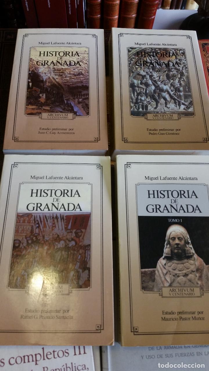 Libros de segunda mano: 1992 - MIGUEL LAFUENTE ALCÁNTARA - Historia de Granada. 4 tomos (obra completa) - Foto 3 - 268136414