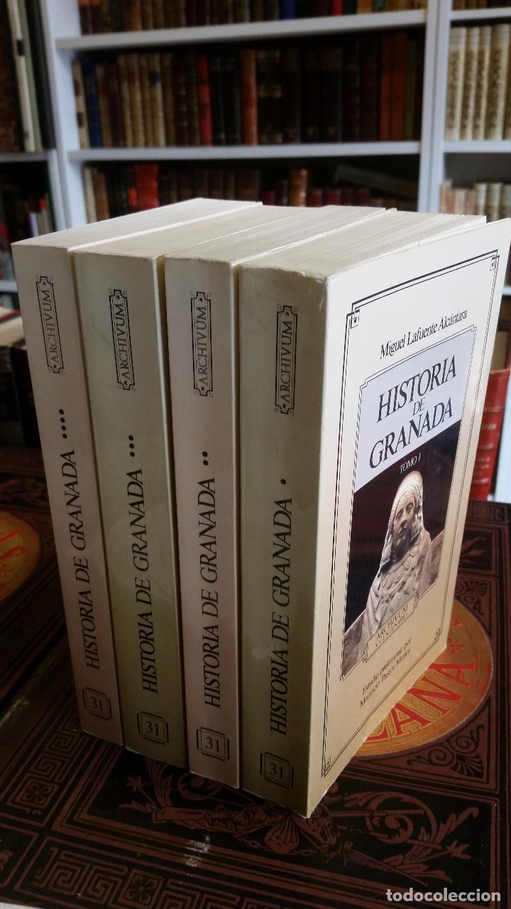 1992 - MIGUEL LAFUENTE ALCÁNTARA - HISTORIA DE GRANADA. 4 TOMOS (OBRA COMPLETA) (Libros de Segunda Mano - Historia - Otros)