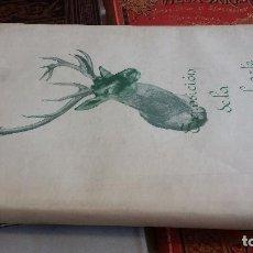 Libros de segunda mano: 1951 - JULIO CAVESTANY - EXPOSICIÓN DE LA CAZA EN EL ARTE. Lote 268137079