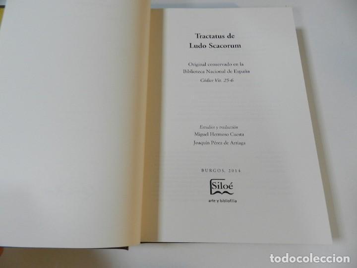 Libros de segunda mano: FACSÍMIL TRACTATUS DE LUDO SCACORUM TRATADO JUEGO DEL AJEDREZ SIGLO XV ED SILOÉ 2008 ÉCHECS CHESS - Foto 18 - 268150859