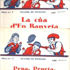 Libros de segunda mano: TEATRE DE TITELLES - TRES OBRES - LLUÍS MILLÀ, S.F.. Lote 268280114