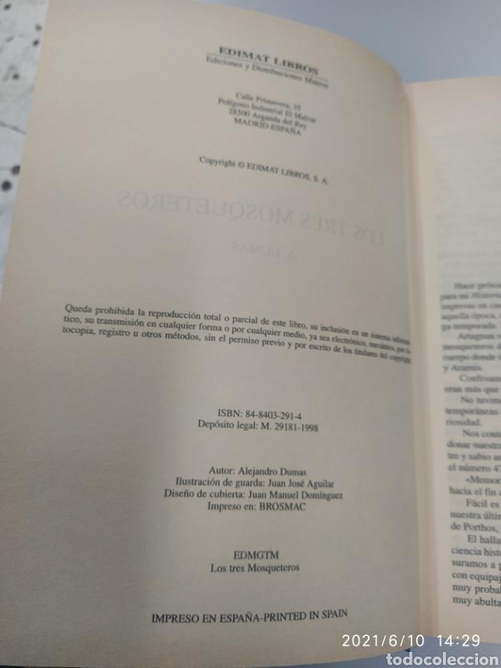 Libros de segunda mano: Los tres mosqueteros, ilustrado - Foto 2 - 268316544