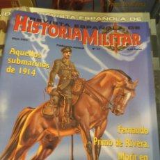 Libros de segunda mano: REVISTA ESPAÑOLA DE HISTORIA MILITAR 30×21 MUY ILUSTRADO TENGO MÁS DE 50 NUMEROS. Lote 268416424