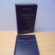 Libros de segunda mano: CORNELIO TACITO. ANALES I-IV Y XI-XVI. 2 LIBROS. Nº 19 Y 30.EDITORIAL GREDOS 1984-1986.. Lote 268836454