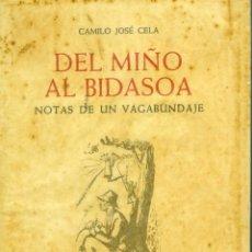 Livres d'occasion: CAMILO JOSÉ CELA, DEL MIÑO AL BIDASOA (3ª ED), BARCELONA, NOGUER, 1961. DIBUJOS DE PEDRO BUENO. Lote 268877094