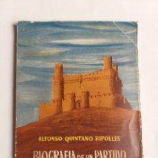 Libros de segunda mano: BIOGRAFÍA DE UN PARTIDO JUDICIAL. APORTACIÓN DE COLMENAR VIEJO A LA HISTORIA DE ESPAÑA . ..MADRID. Lote 268931524