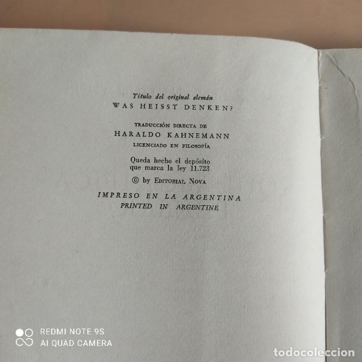 Libros de segunda mano: QUE SIGNIFICA PENSAR. MARTIN HEIDEGGER. 1958. EDITORIAL NOVA. 236 PAGS - Foto 4 - 268933089