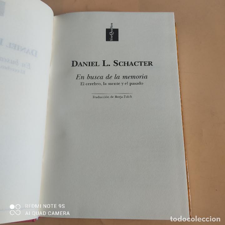 Libros de segunda mano: EN BUSCA DE LA MEMORIA.ELCEREBRO,LA MENTE Y EL PASADO. DANIEL L.SCHACTER.1ª ED. 1999. 502 PAGS - Foto 3 - 268936219