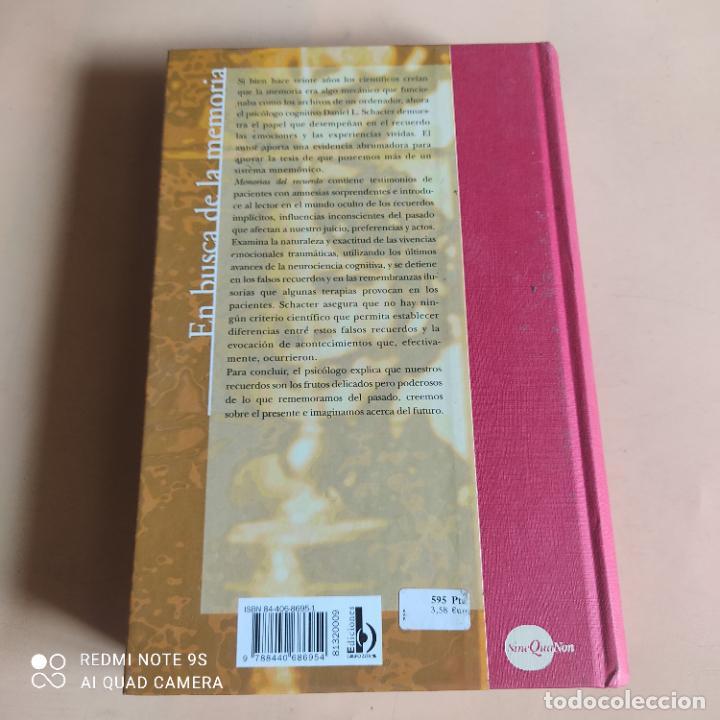 Libros de segunda mano: EN BUSCA DE LA MEMORIA.ELCEREBRO,LA MENTE Y EL PASADO. DANIEL L.SCHACTER.1ª ED. 1999. 502 PAGS - Foto 7 - 268936219