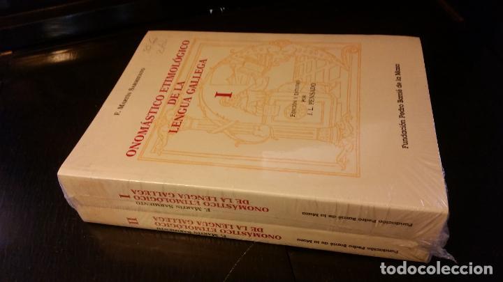 1998 - MARTÍN SARMIENTO - ONOMÁSTICO ETIMOLÓGICO DE LA LENGUA GELLEGA. 2 TOMOS (Libros de Segunda Mano - Ciencias, Manuales y Oficios - Otros)