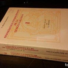 Libros de segunda mano: 1998 - MARTÍN SARMIENTO - ONOMÁSTICO ETIMOLÓGICO DE LA LENGUA GELLEGA. 2 TOMOS. Lote 268969259