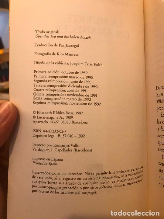 Libros de segunda mano: La muerte: un amanecer. Elisabeth Kübler-Ross. PEDIDO MÍNIMO 5€ - Foto 3 - 268972264