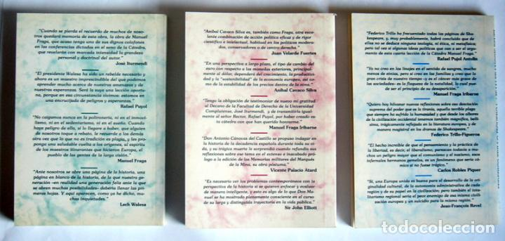 Libros de segunda mano: CINCO LECCIONES EN TRES LIBROS DE LA CATEDRA MANUEL FRAGA - EDITA FUNDACION CANOVAS DEL CASTILLO - Foto 2 - 268979584