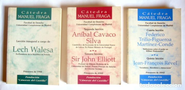 CINCO LECCIONES EN TRES LIBROS DE LA CATEDRA MANUEL FRAGA - EDITA FUNDACION CANOVAS DEL CASTILLO (Libros de Segunda Mano - Pensamiento - Otros)