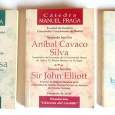 Libros de segunda mano: CINCO LECCIONES EN TRES LIBROS DE LA CATEDRA MANUEL FRAGA - EDITA FUNDACION CANOVAS DEL CASTILLO. Lote 268979584