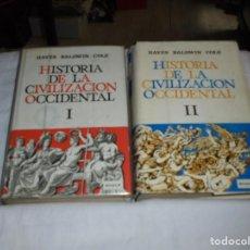 Libros de segunda mano: HISTORIA DE LA CIVILIZACION OCCIDENTAL.HAYES BALDWIN COLE.EDICIONES RIALP.TOMOS I Y II.-1967. Lote 268986434