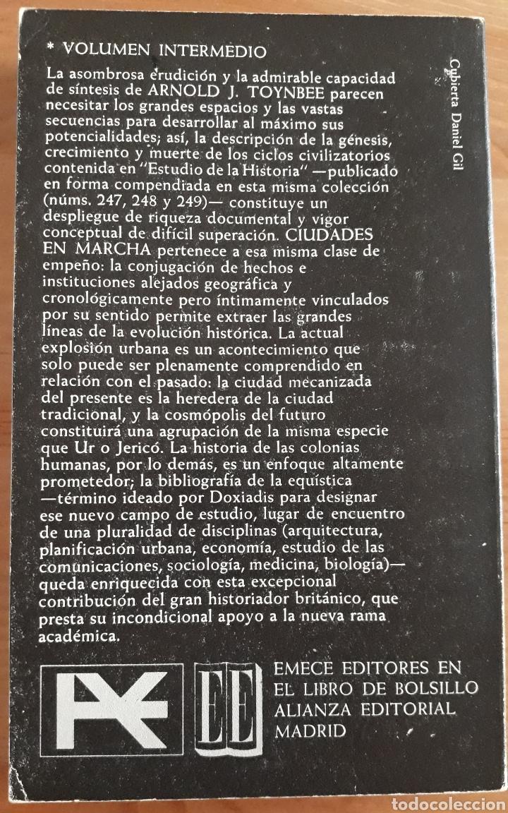 Libros de segunda mano: CIUDADES EN MARCHA. Arnold Toynbee. Alianza Emecé. - Foto 2 - 268989794