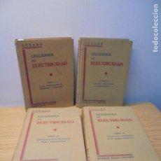 Libros de segunda mano: LECCIONES DE ELECTRICIDAD. TOMO I-II-III-IV. ERIC GERARD. EDITOR DOSSAT. 1926-1927.. Lote 269135418