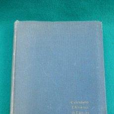 Libros de segunda mano: CALENDARIO EFEMERICO DE EJERCITO Y ARMADA....TOMO PRIMERO.... Lote 269209288