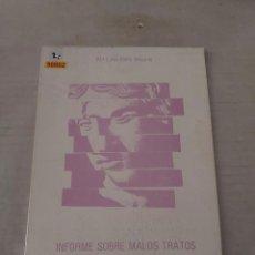 Libros de segunda mano: 50802 - INFORME SOBRE LOS MALOS TRATOS EN LA PAREJA - POR Mª LUISA BALDA MEDARDE - AÑO 1987. Lote 269218038
