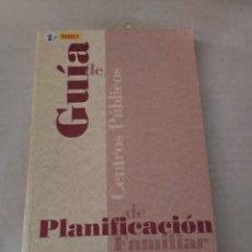 Libros de segunda mano: 50803 - GUIA DE CENTROS PUBLICOS DE PLANIFICACION FAMILIAR - MINISTERIO DE ASUNTOS SOCIALES - 1991. Lote 269218203