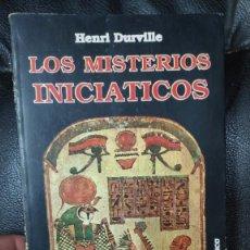 Libros de segunda mano: LOS MISTERIOS INICIATICOS ( HENRY DURVILLE ) EDICOMUNICACION 1987. Lote 269230648