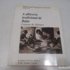 Libros de segunda mano: LUCIANO GARCÍA ALÉN E X.M. GÓMEZ VILASÓ A ALFARERÍA TRADICIONAL DE BRUÑO CARPETA DE DIBUJOS W7515. Lote 269259768
