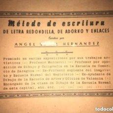 Libros de segunda mano: ANTIGUO MÉTODO DE ESCRITURA DE LETRA REDONDILLA ADORNO ENLACES AGEL VIDAL HERNÁNDEZ. Lote 269296768