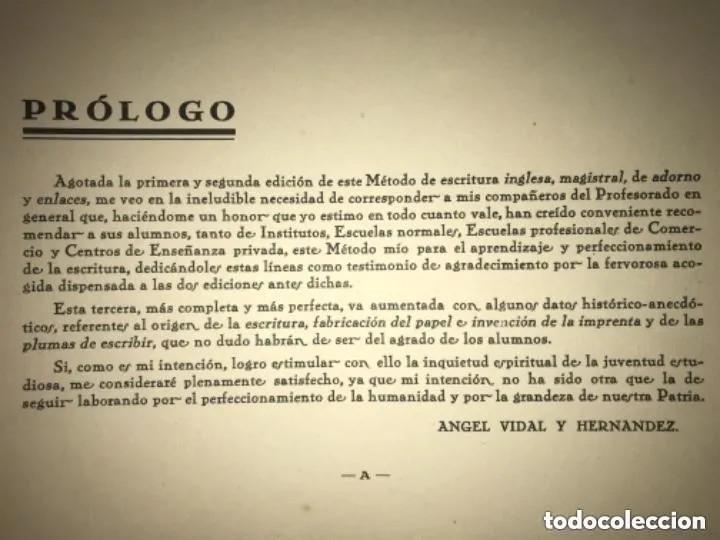 Libros de segunda mano: ANTIGUO MÉTODO DE ESCRITURA DE LETRA REDONDILLA ADORNO ENLACES AGEL VIDAL HERNÁNDEZ - Foto 5 - 269296768