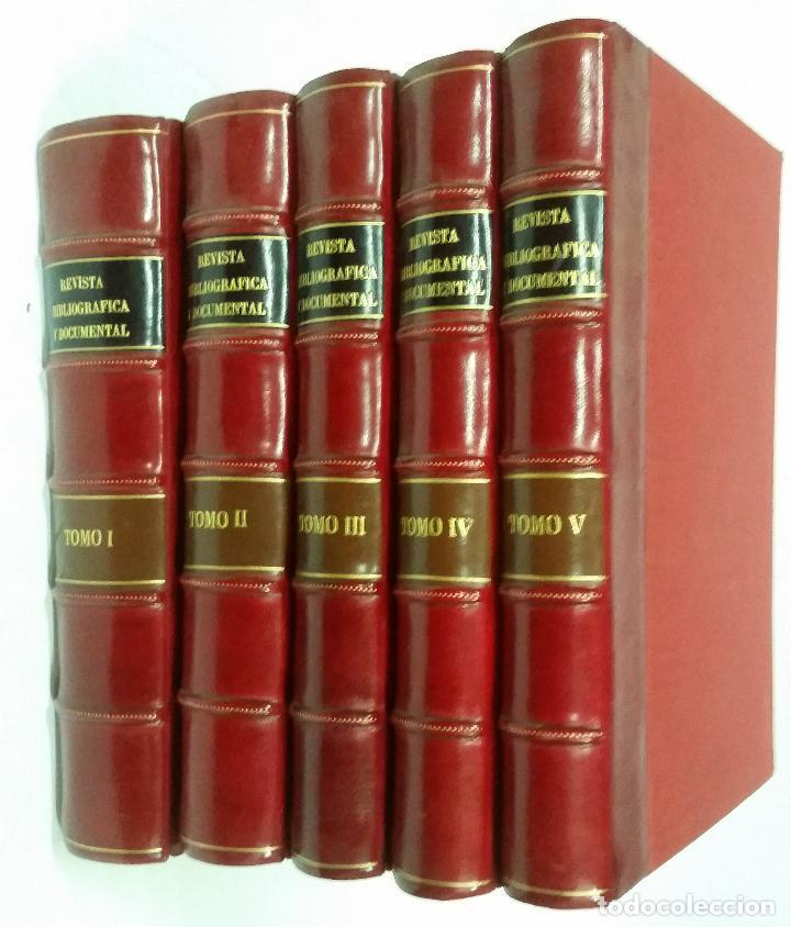 REVISTA BIBLIOGRÁFICA Y DOCUMENTAL. ARCHIVO GENERAL DE ERUDICIÓN HISPÁNICA. AÑOS 1947 A 1951 (Libros de Segunda Mano - Historia - Otros)