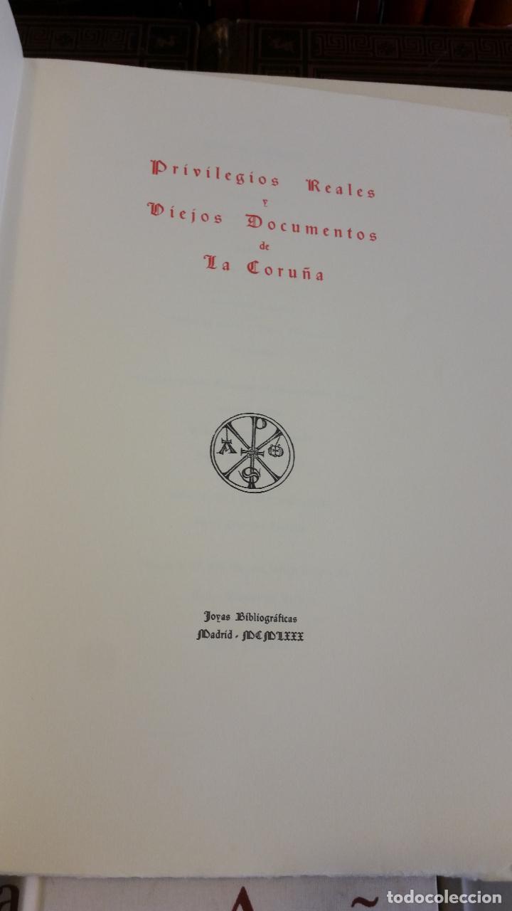 Libros de segunda mano: 1980 - Privilegios Reales y Viejos Documentos XVII: La Coruña I-XV Joyas Bibliográficas - Foto 3 - 269439398