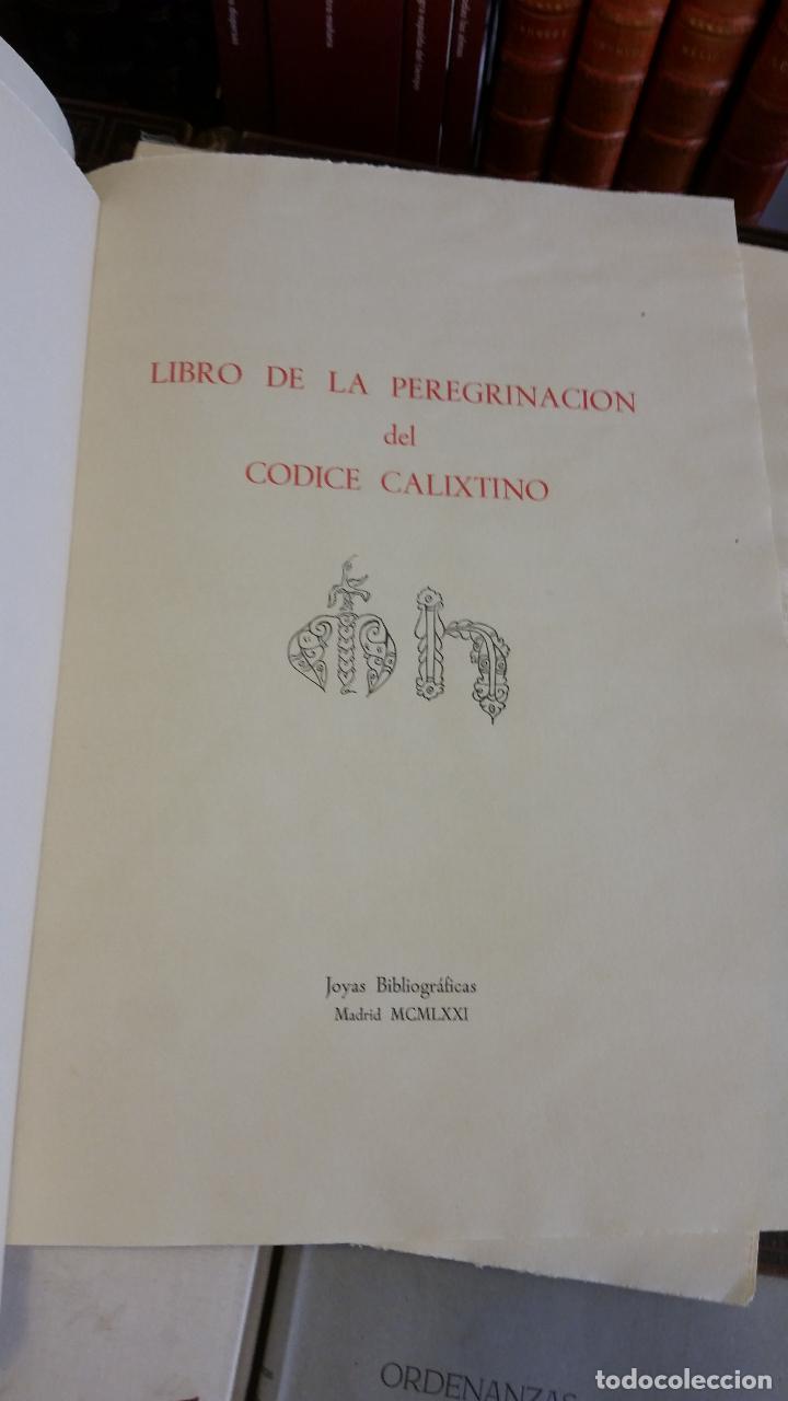 Libros de segunda mano: 1971 - Libro de la peregrinación del códice calixtino - Joyas Bibliográficas - Foto 4 - 269439653