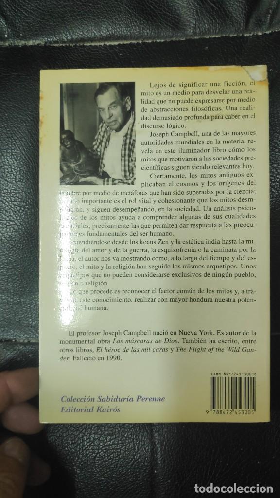 Libros de segunda mano: LOS MITOS ( SU IMPACTO EN EL MMUNDO ACTUAL ) JOSEPH CAMPBELL KAIROS 1994 - Foto 2 - 269439938