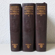 Libros de segunda mano: F. MIJAILOVICH DOSTOYEVSKI . OBRAS COMPLETAS . AGUILAR . 3 TOMOS (COMPLETA) . PLENA PIEL .. Lote 269712283