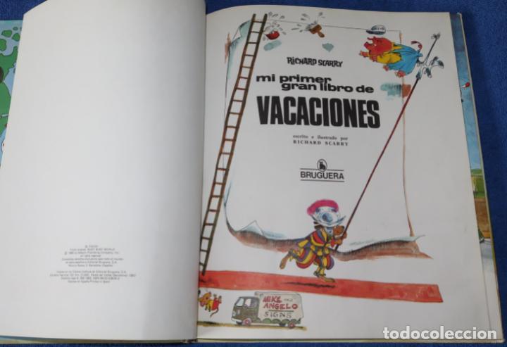 Libros de segunda mano: Mi primer gran libro de vacaciones - Richard Scarry - Bruguera (1983) - Foto 3 - 269740383