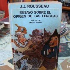 Libros de segunda mano: ENSAYO SOBRE EL ORIGEN DE LAS LENGUAS (J.J.ROUSSEAU) EDITORIAL AKAL. Lote 269940733