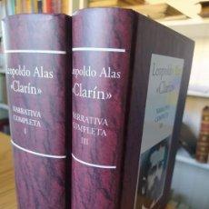Libros de segunda mano: LEOPOLDO ALAS CLARIN, NARRATIVA COMPLETA, RBA. TOMOS 1 Y 3 DE 3.. Lote 269957163