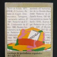 Libros de segunda mano: CATÁLOGO DE PERIODISTAS ESPAÑOLES DEL SIGLO XX. A. LOPEZ DE ZUAZO. TOMO I: A-F. 2ª ED. MADRID, 1988. Lote 270123253