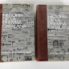 Libros de segunda mano: HISTÒRIA DE LA PRENSA CATALANA - JOAN TORRENT, RAFAEL TASIS - 2 TOMOS, COMPLETA - ED BRUGUERA - 1966. Lote 270580208