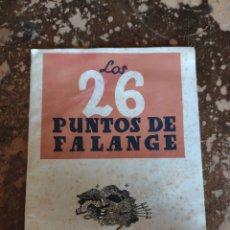 Libros de segunda mano: LOS 26 PUNTOS DE LA FALANGE (SECCION FEMENINA DE F.E.T. Y DE LAS J.O.N.S.). Lote 270638793