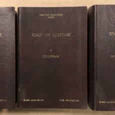 Libros de segunda mano: NIKOLAS ORMAETXEA ORIXE IDAZLAN GUZTIAK. 3 TOMOS. ETOR ARGITALETXEA 1991. EUSKERA Y CASTELLANO. Lote 270872868