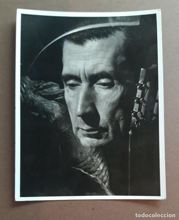 ALFREDO TESTONI: RETRATO DEL ESCRITOR ESPAÑOL JOSÉ BERGAMÍN FOTOGRAFÍA ORIGINAL (Libros de Segunda Mano - Bellas artes, ocio y coleccionismo - Otros)