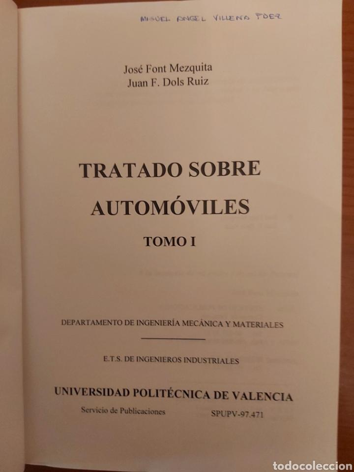 Libros de segunda mano: TRATADO SOBRE AUTOMÓVILES. TOMOS I y II. U.P.V - Foto 2 - 271157353