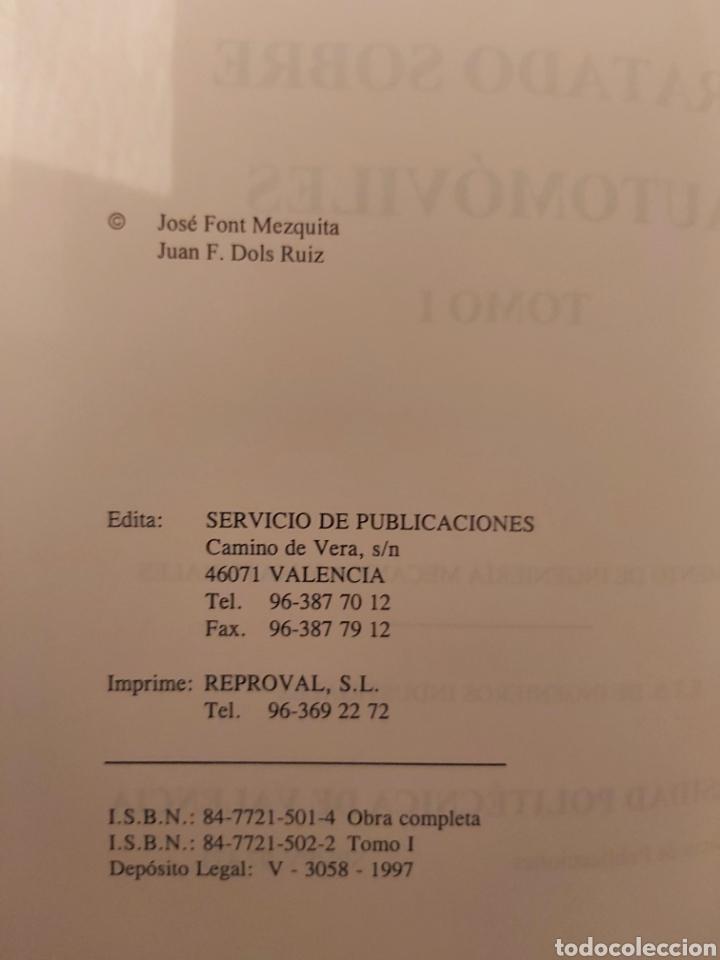 Libros de segunda mano: TRATADO SOBRE AUTOMÓVILES. TOMOS I y II. U.P.V - Foto 3 - 271157353
