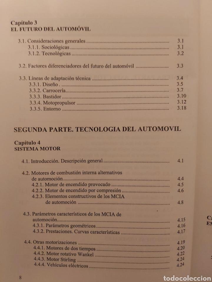 Libros de segunda mano: TRATADO SOBRE AUTOMÓVILES. TOMOS I y II. U.P.V - Foto 6 - 271157353