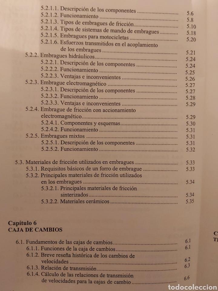 Libros de segunda mano: TRATADO SOBRE AUTOMÓVILES. TOMOS I y II. U.P.V - Foto 8 - 271157353